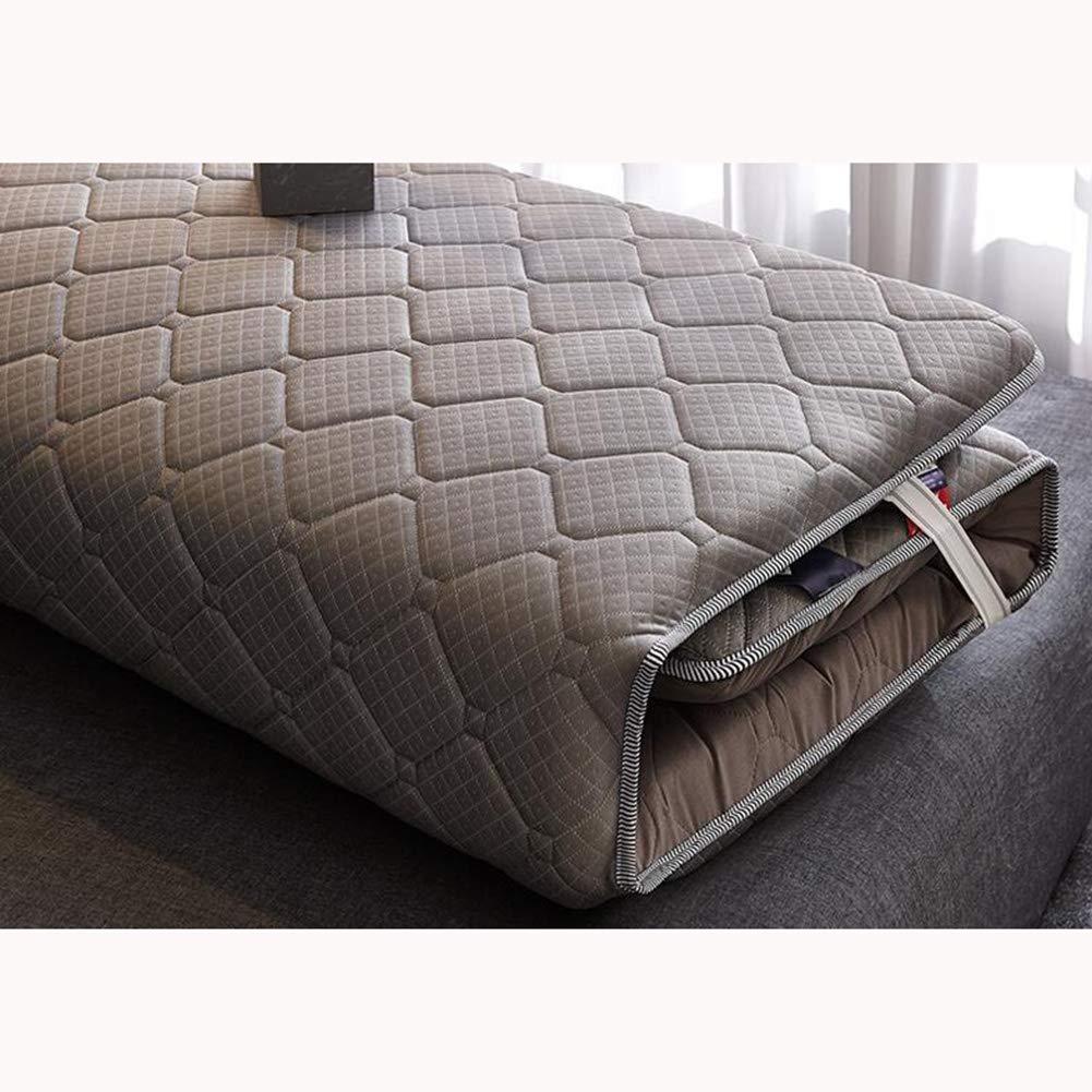 Love Home Tatami Matratzenauflage, Schlafmatte, verdickt, japanisch, faltbar, hohe Rückprallung, für Studenten, Schlafsaal, Polyester, grau, 200x220cm(79x87inch)