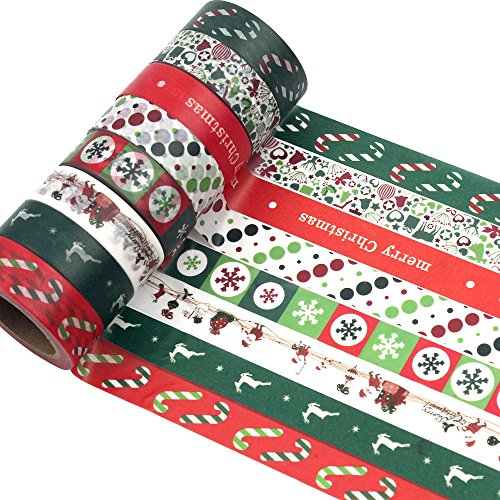 8 Rolls Christmas Washi Tape