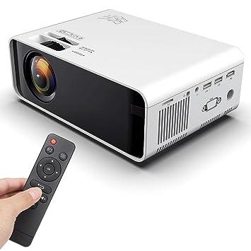ASHATA Proyector LED, 50000 Stunden 480p 3D Portátil HD LCD LED ...