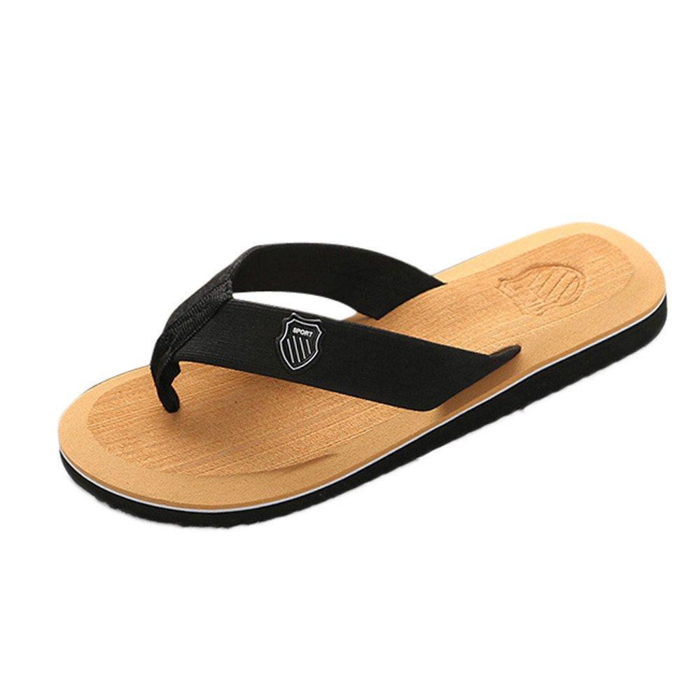 Tongs Plage Homme Pantoufles,Alaso Hommes Flip Flops D/Ét/é Sandales de Plage Pas Cher Homme Chaussures Mules Slippers D/écontract/é Piscine