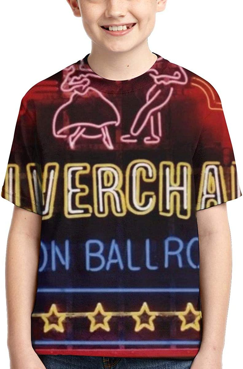 BowersJ Childs Silverchair Neon Ballroom Design 3D Printed Short Sleeve Tshirts for Girls /& Boys Black