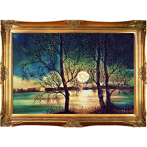 overstockArt Kopania Moon with Victorian Gold Frame Finish