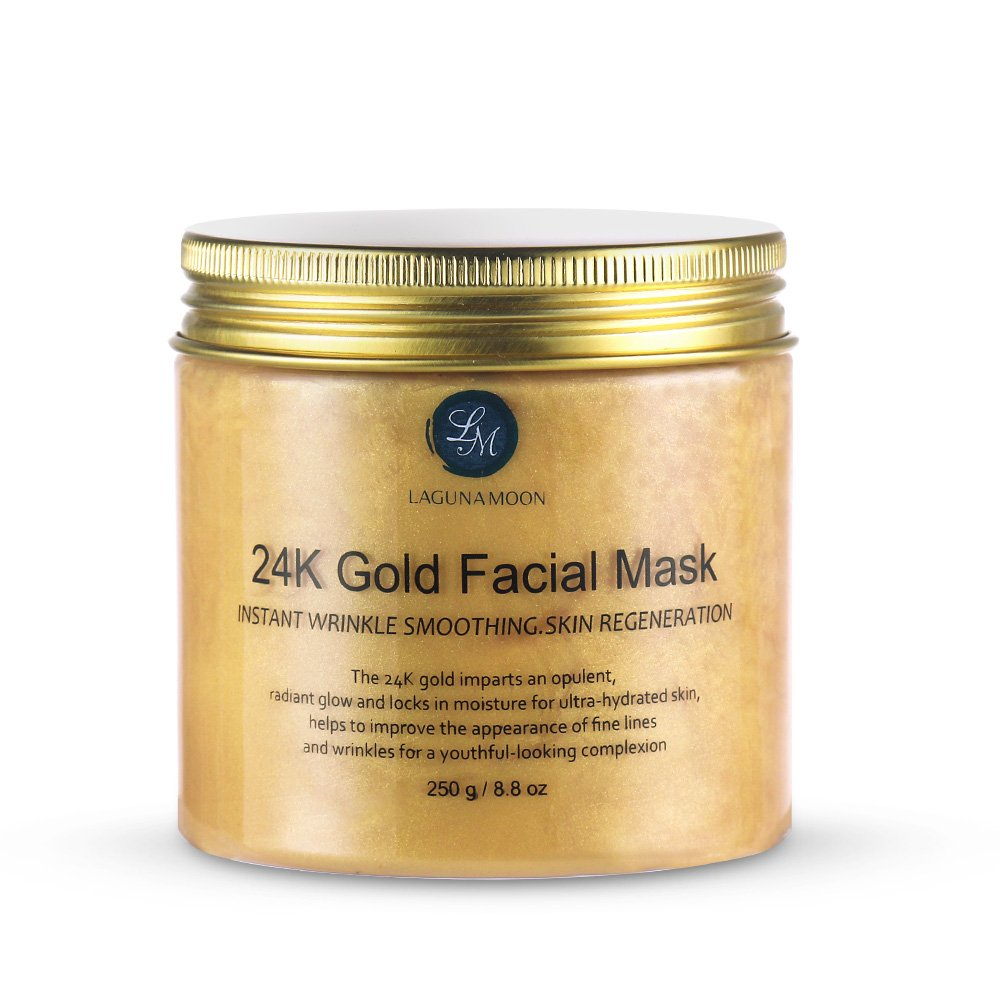 24K Gold Facial Mask 8.8 oz Gold Face Mask for Anti Aging Anti Wrinkle Facial Treatment Pore Minimizer, Acne Scar Treatment & Blackhead Remover 250g Lagunamoon 222317601