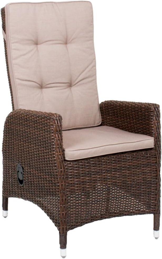 Sillón Lavra Jardín Ratán Sillón Relax sillón silla de jardín 2 + – Fregadero: Amazon.es: Jardín