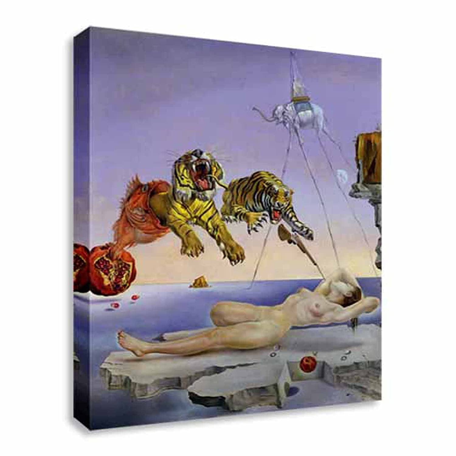 Salvador dali tigers canvas art cheap print wall art †large 12x16 inches amazon co uk kitchen home