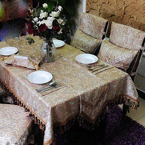 JCRNJSB® Chenille europäischer Art-Tabellen-Stoff-Kaffeetisch-Tuch Waschbar und pflegeleicht ( größe : : : 140190cm ) cad107