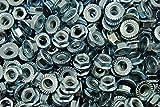 (600) Serrated Flange 5/16-18 Hex Lock Nuts - Zinc Plated
