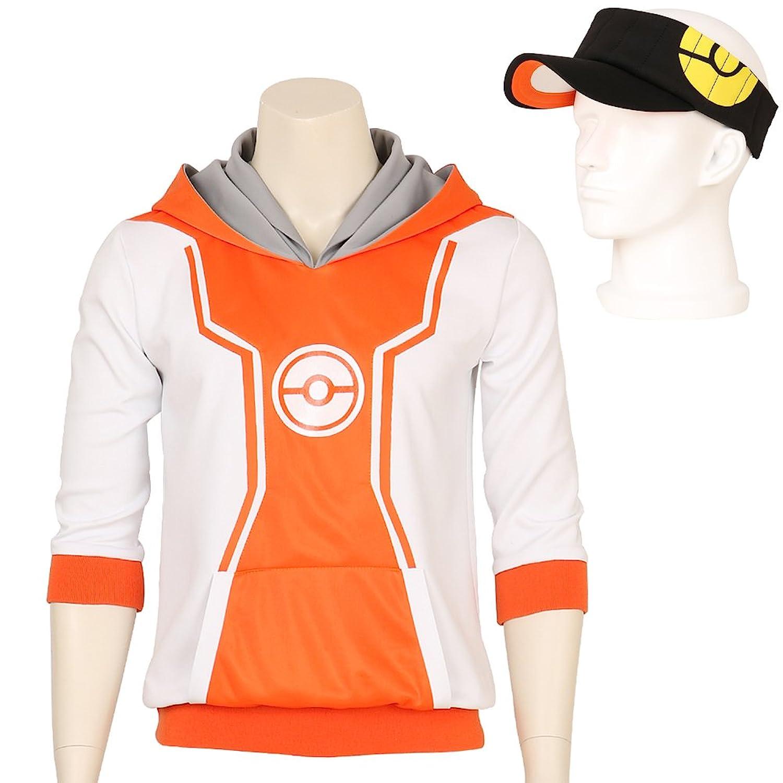 Amazon.com: Men's Pokemon Go Trainer Figure Orange Hoodie Team ...