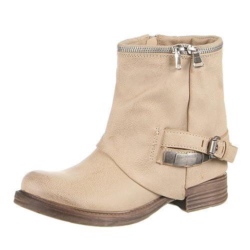 Schuhcity24 - Botines Mujer, Color Beige, Talla 41: Amazon.es: Zapatos y complementos