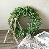 Zehui Green Leaf Christmas Wreath With Bow Christmas Decorations (Small Image)