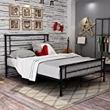 Metal Bed Frame,With Headboard And Footboardboard,Steel Slat Support,Mattress Foundation,Box Spring Replacement,Queen