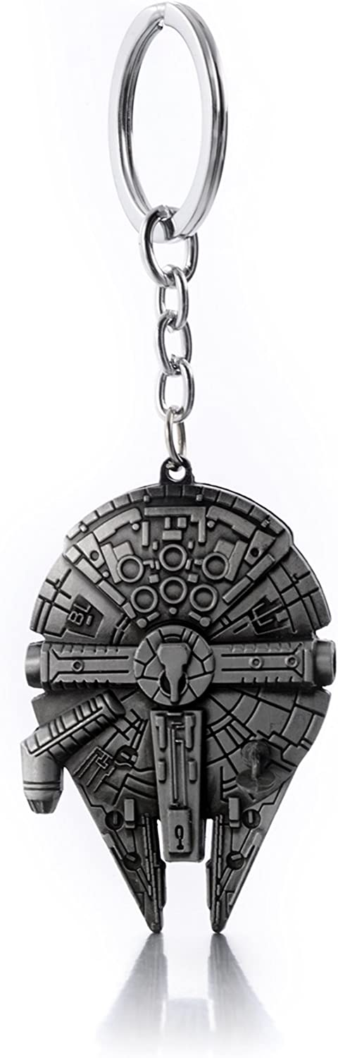 Star Wars Millennium Falcon Keychain, Silver: Clothing