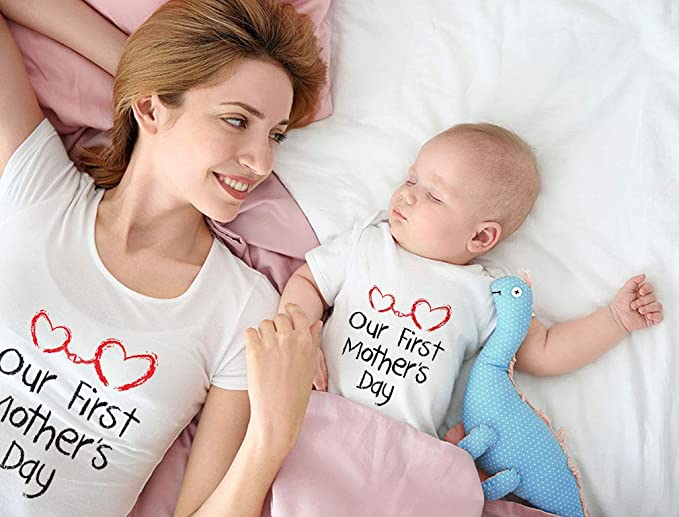 Our First Mothers Day Outfit For Mom & Baby Matching Set