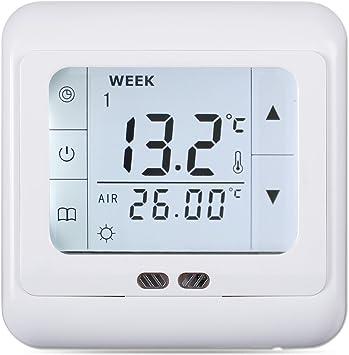 LCD Touch Screen Digital Raumthermostat Thermostat für Wasserfussbodenheizung DE