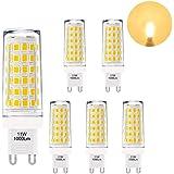 Lampade Lampadine Piccola a LED G9 GU9 Alta Luminosità 11W 1000Lm Luce Calda 3000K Più Brillante di Lampadina Alogena G9 60W AC220-240V Lot di 6 di Enuotek
