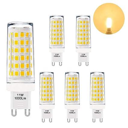 Lamparas Bombillas de Maiz Pequeñas de LED Casquillo G9 GU9 Alto Brillo 11W 1000Lm Luz Calida