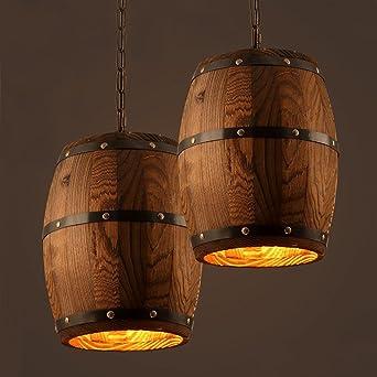 Aiwen Kreativ Fass Industrie Dekorativ Leuchter Holz Lampenschirm ...