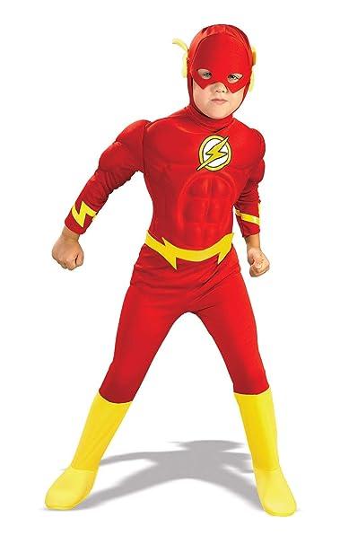 Amazon.com: Niños tamaño Deluxe disfraz de el Flash grande ...