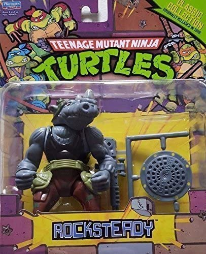 Teenage Mutant Ninja Turtles Classic Collection Rocksteady Action Figure 4 Inches