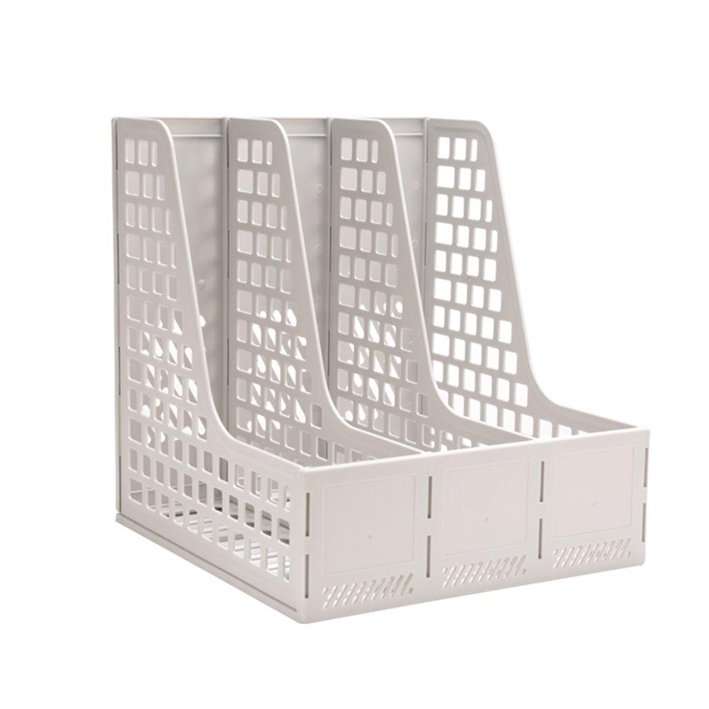 HaloVa File Holder, Multipurpose Large-capacity Desk Organizer, Thickened Desktop File Sorter for Home Storage Magazine Literature Office Supplies, Gray