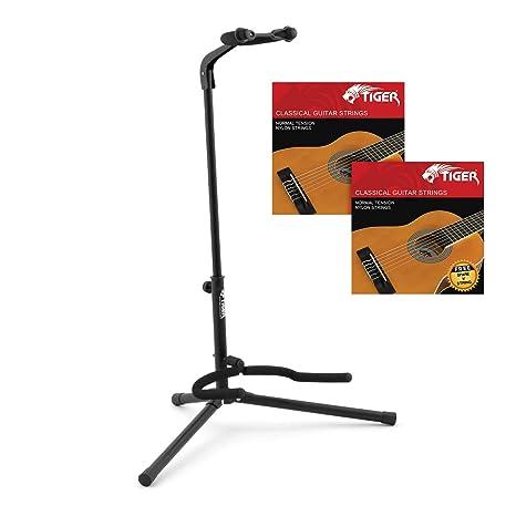 Tiger - Soporte universal para guitarra, negro: Amazon.es ...