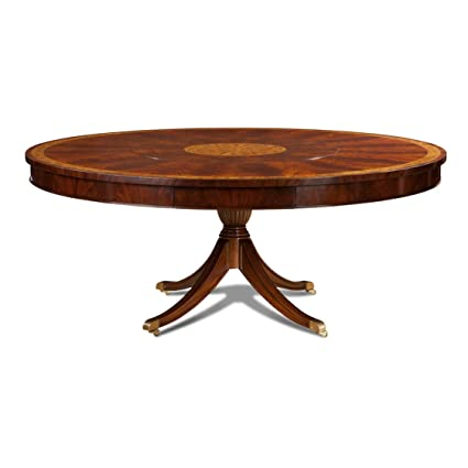 Amazon Com Large Round Mahogany Dining Table With Lazy Susan Tables