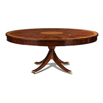 Prime Amazon Com Large Round Mahogany Dining Table With Lazy Beutiful Home Inspiration Xortanetmahrainfo