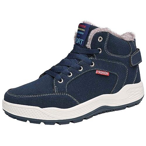 Mens Botas para la Nieve Caer en Invierno Botas Botines de Tobillo Zapatos al Aire Libre Totalmente Forrada de Piel: Amazon.es: Zapatos y complementos