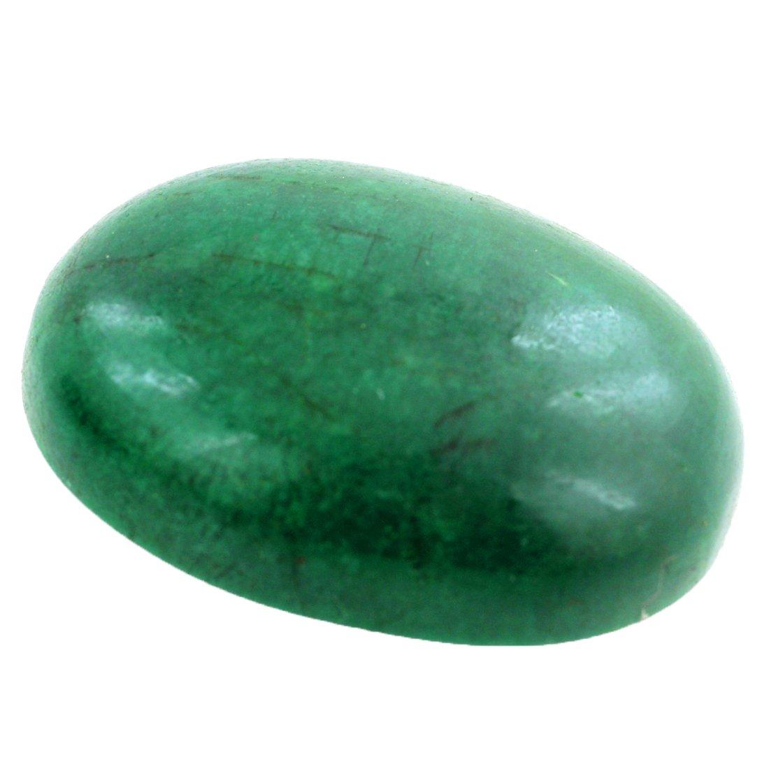skyjewels Certified 46.60 Ct Oval Cabochon Emerald Gemstone Buy Online Sale