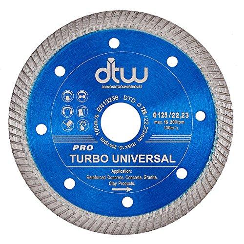 Universal Turbo cuchilla de disco de corte de diamante para amoladora de ángulo Stihl: Amazon.es: Bricolaje y herramientas