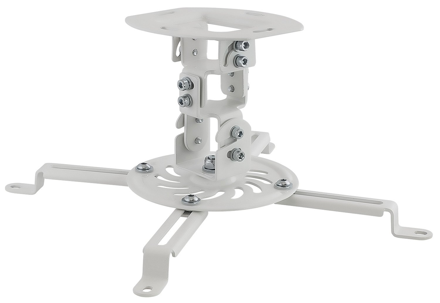 Mount-It! Ceiling Projector Mount Height Adjustable Universal Stand Fits Epson Optoma Benq Viewsonic Projectors, 30 Lbs Capacity (Short)