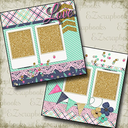 GLITTER GIRL - Premade Scrapbook Pages - EZ Layout 249 ()