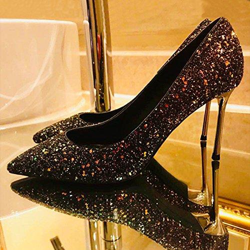 Mariage Escarpins En Chaussures De Talons Hauts Chaussures Fête Boîte Cuir Chaussures Nuit Femmes 5cm Simples Stilettos RedGreen Robes Mariée De 8 qZgXwZYp