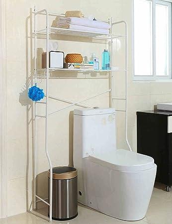 Waschmaschine Regale ZCJB Einfaches Badezimmer 80 Cm Verbreitert Waschmaschine  Badezimmer Finishing Rahmen Bodenständiges WC Lagerregal