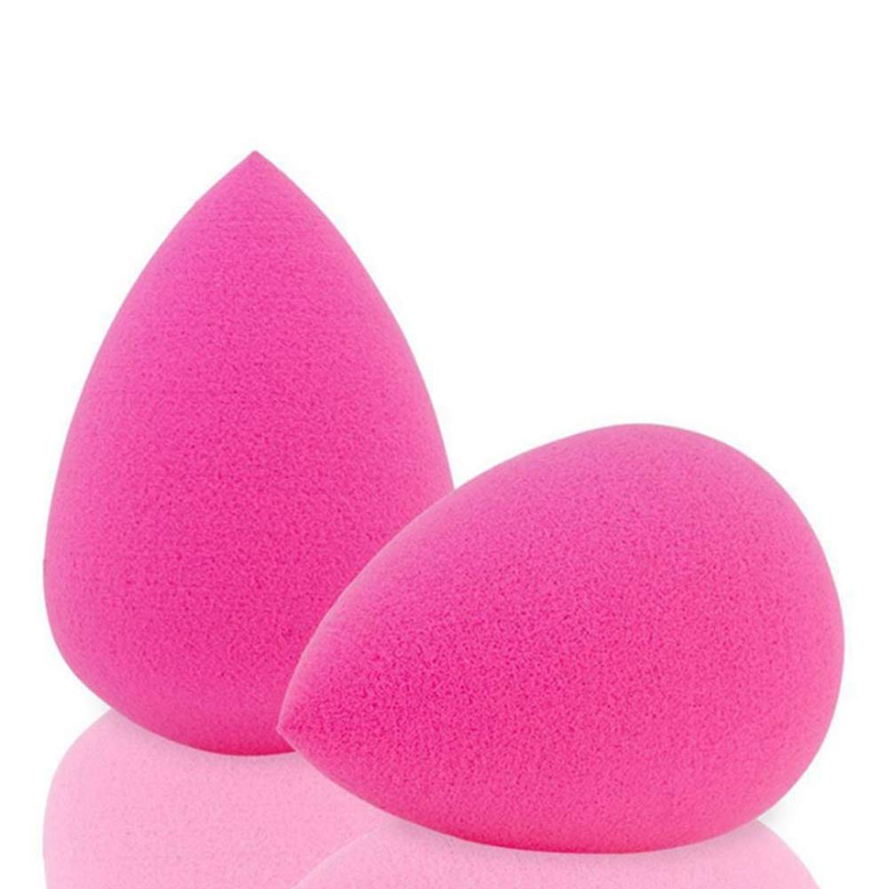 Waterdrop Makeup Blender Beauty Sponges Foundation Blending Sponge,Flawless for Liquid, Creams and Powders 2Pcs (Rose Red) Naisidier