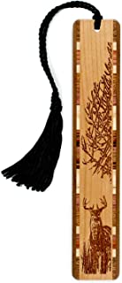 product image for Personalized Deer, Engraved Wooden Bookmark with Tassel - Search B017JB6CZY for Non-Personalized Version