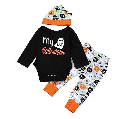 fheaven halloween kids baby girls boys halloween outfits my 1st halloween black romper topscartoon