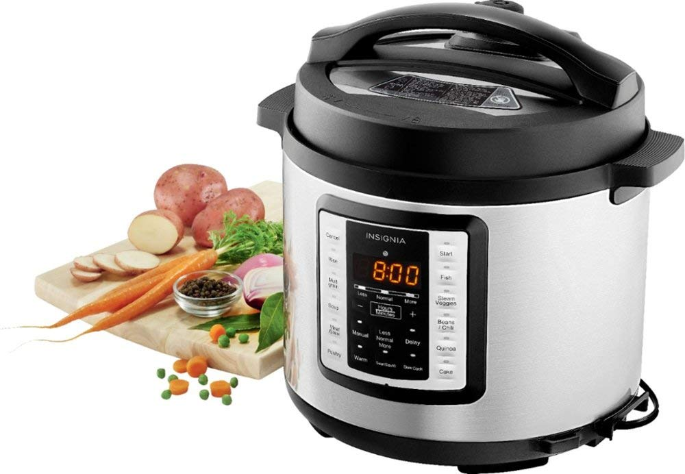 Insignia- 6-Quart Multi-Function Pressure Cooker - Stainless Steel by Insignia (Image #4)