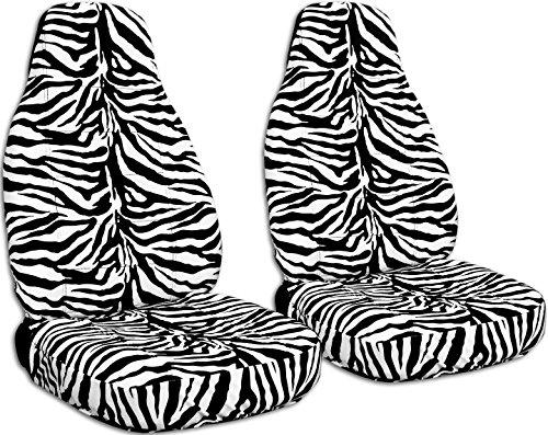 (Animal Print Car Seat Covers: Zebra - Semi-Custom Fit - Front - Will Make Fit Any Car/Truck/Van/SUV (30 Prints))