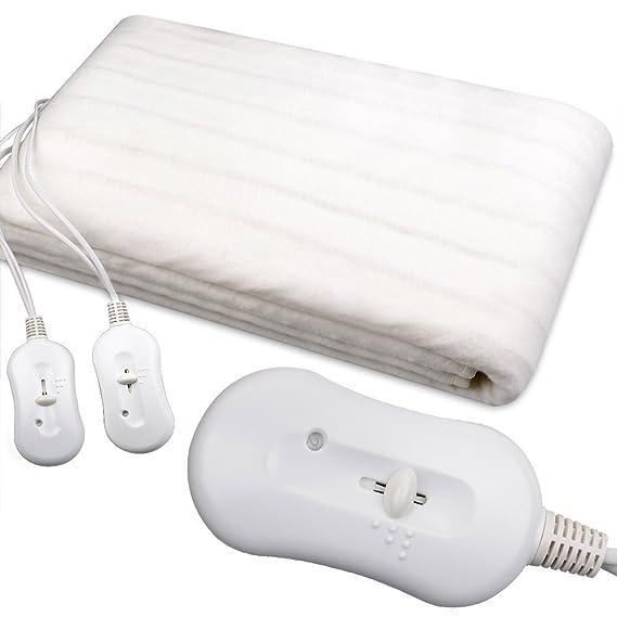 Colchoncillo calefacción, - Manta eléctrica doble - Hervidor de cama - CERTIFICATIONS CE - regulación de temperatura: 3 posiciones, indicador LED - doble, ...