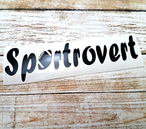 [Sportrovert Vinyl Decal Sticker with Football for Players Fans for use on YETI RTIC Ozark Tumbler Mug] (Mail Order Bride Adult Costumes)