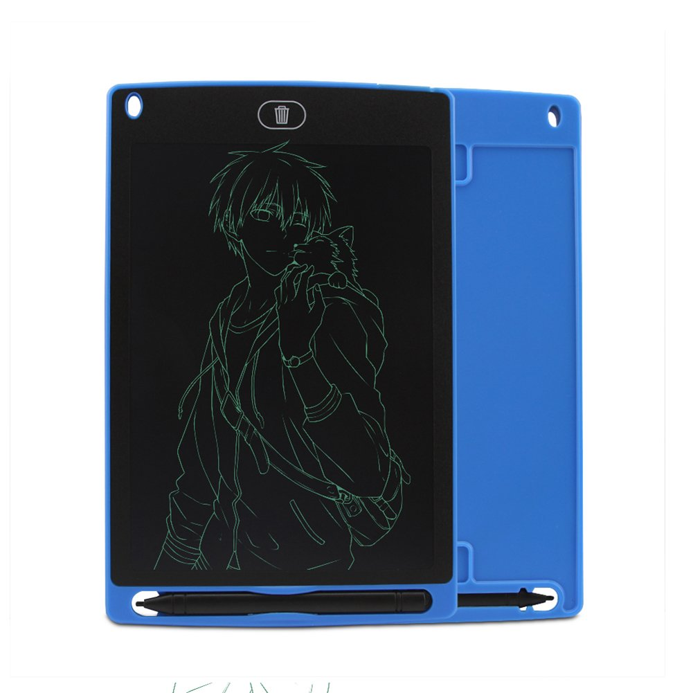 8.5 Inch LCD Writing Tablet Drawing Board Handwriting Pad Magnetic Fridge Message Whiteboard,Digital Electronic Notepad Graphic Graffiti Board for Kids Children (Blue) by Usbkingdom
