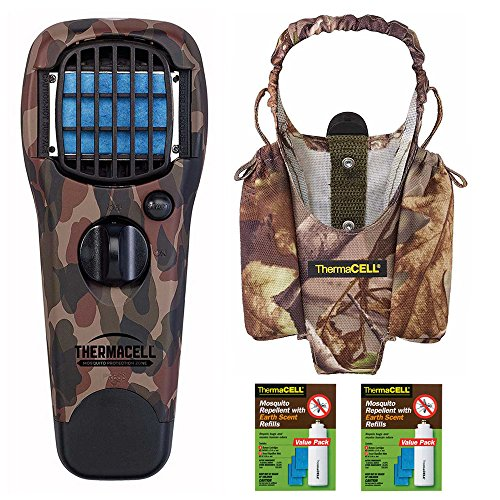 Earth Scent Value Pack - Thermacell Realtree Xtra Camo Mosquito Repelling Device/Appliance with Holster and Two 48-Hour Refill Packs
