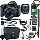 Canon EOS Rebel SL2 With 18-55mm f/4-5.6 IS STM + 32GB Memory + Camera Bag + TTL Speed Light + Pro Filters,(21pc Bundle)