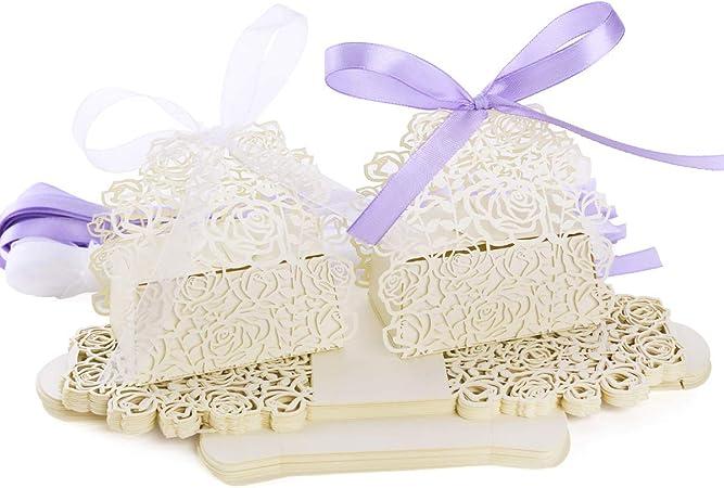 25 x Hochzeit Deko Bonboniere Geschenkbox Geschenkschachtel Geschenkverpackung
