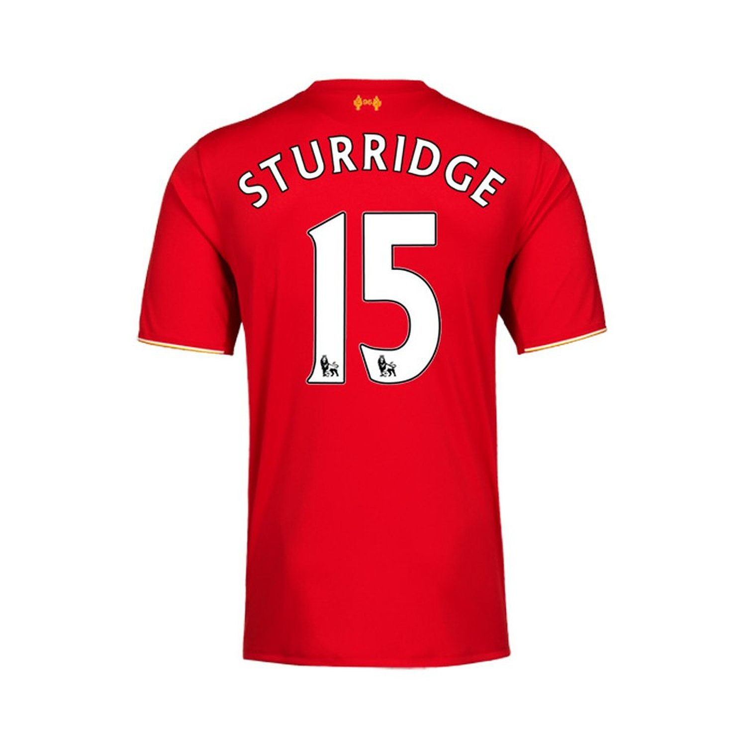 New Balance Sturridge #15 Liverpool Home Soccer Jersey 2015(Authentic name and number of player)/サッカーユニフォーム リヴァプールFC ホーム用 スタリッジ 背番号15 2015 B013TK2OAG   XL