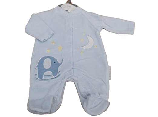 Tiny Baby with Tags Premature Little Elephant Velour Sleepsuit 3-5 5 ... aeb2d6a176bf