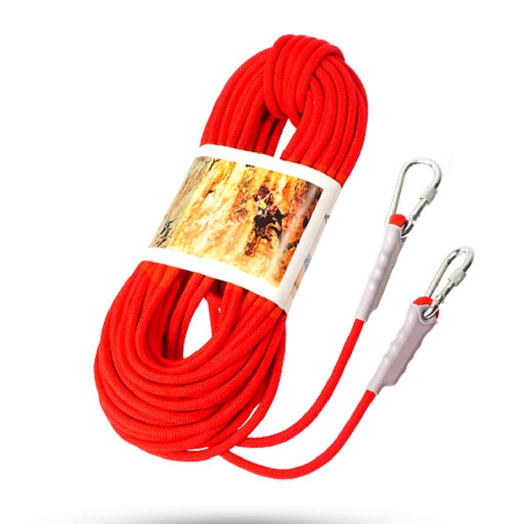 Rouge DLYDSS Corde d'escalade, Corde De Sécurité Extérieure, Corde De Descente Rapide, Matériau en Polypropylène, Résistant à l'usure, Diamètre 12 MM, Alpinisme, équipement De Déploiement