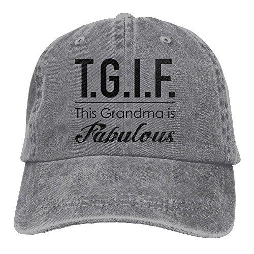 TGIF This Grandma Is FabulousAdjustable Unisex Baseball Cap Fashion Style Hat Cotton Denim Cap -