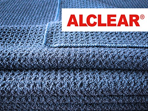 Amazon.com: ALCLEAR 820901_2 Ultra-microfiber Cloth, Dry Wonder after Car Wash. Navy. Size: 23.62 x 15.75 in. Double set.: Automotive